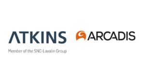 Atkins logo Arcadis logo